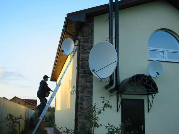 Установка спутниковой
