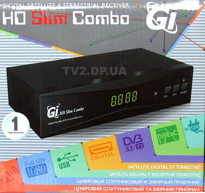 Gi HD Slim Combo Т2 ресивер